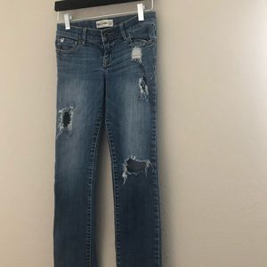 Abercrombie kids distressed jeans irregular slim14